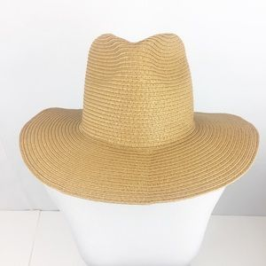 Madewell Mesa Packable Panama Straw Tan Hat M/L